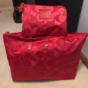 New Coach Signature Bag and snap pouch